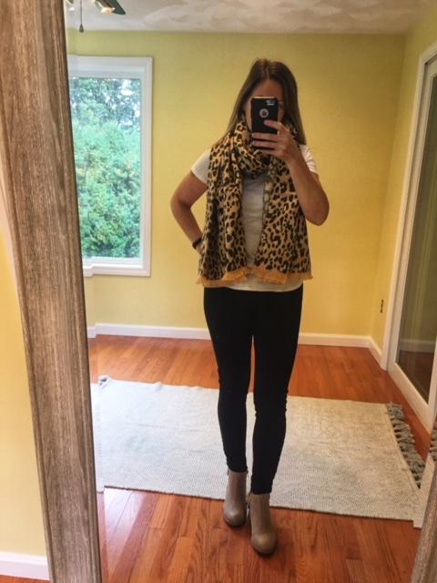 gap leopard scarf
