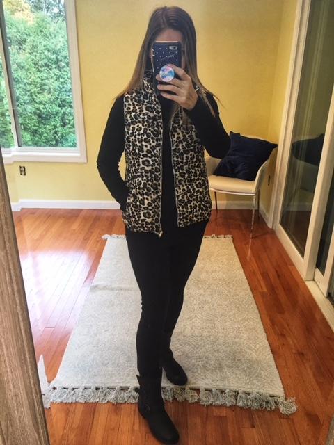 leopard loft vest