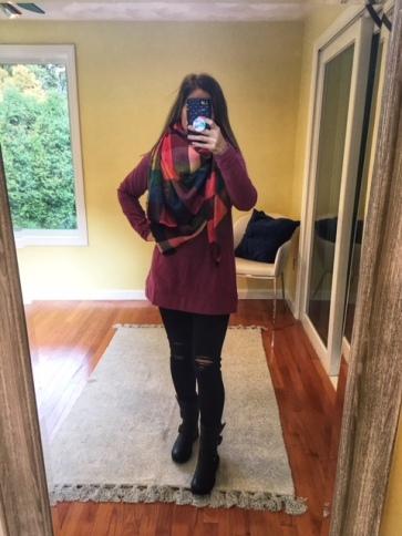 on sweatshirt gap scarf