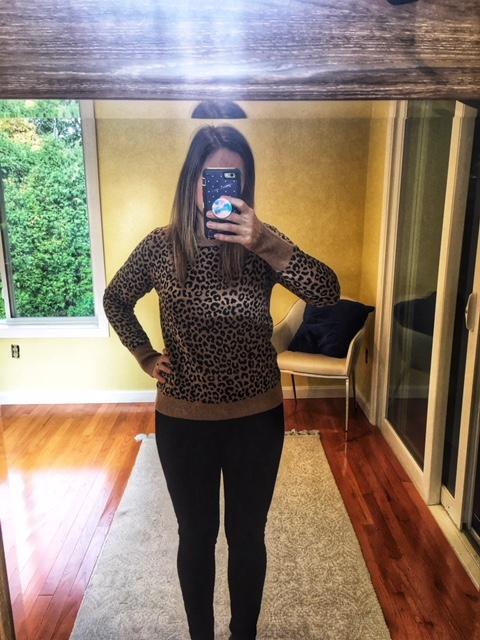 target leopard sweater